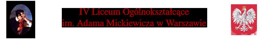 IV Liceum Ogólnokształcące im. Adama Mickiewicza w Warszawie